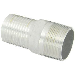 "Dixon Valve AST30 Aluminum Shank/Water Fitting, King Combination Nipple, 2 1/2"" NPT Male x 2 1/2"" Hose ID Barbed Industrial Hose Fittings"