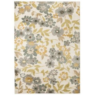 Threshold Soft Floral Area Rug   Cream/Blue (5x7)