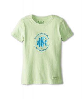 Life is good Kids Joy To The Fishes Crusher Tee Kids Short Sleeve Pullover (Green)