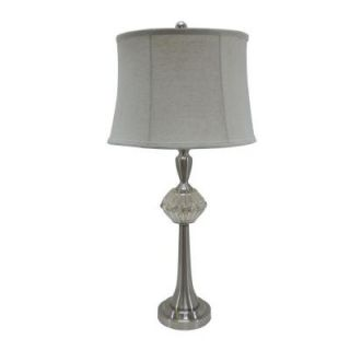 Fangio Lighting 30 in. Polished Nickel Mercury Glass and Metal Table Lamp 5049