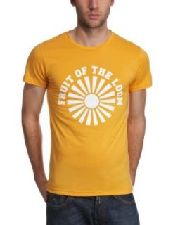Fruit of the Loom Herren Shirt/ T Shirt, Tierdruck 11036PP125, Gr. 52/54 (L), Gelb (X3 Gelb) Bekleidung
