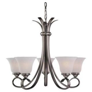 Sea Gull Lighting Rialto 5 Light Antique Brushed Nickel Single Tier Chandelier 31361 965