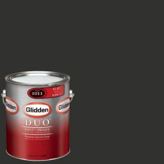 Glidden Team Colors 1 gal. #NFL 168C NFL Atlanta Falcons Black Flat Interior Paint and Primer NFL 168C F 01