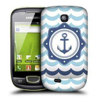 Head Case Designs Blue Anchor Seafarer Hard Back Case Cover for Samsung Galaxy Mini S5570 Cell Phones & Accessories