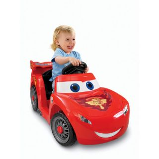Disney Cars Power Wheels Lil Lightning McQueen 6 Volt Battery Powered Ride on Kids Bikes & Riding Toys