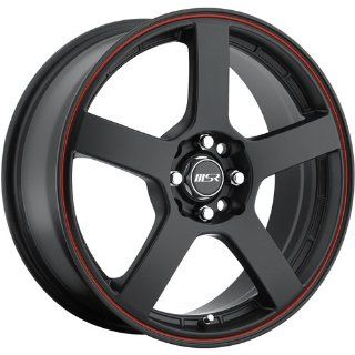 MSR 91 17 Black Red Wheel / Rim 4x100 & 4x4.5 with a 40mm Offset and a 72.64 Hub Bore. Partnumber 9128701 Automotive