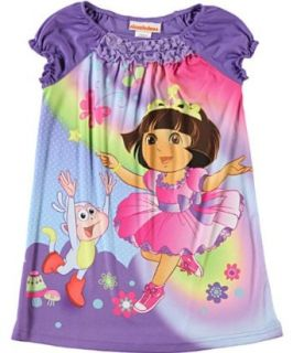 Nickelodeon Dora the Explorer Toddler Girl's Nightgown and Headband (4T) Infant And Toddler Nightgowns Clothing