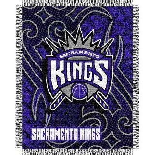 "Sacramento Kings NBA Triple Woven Jacquard Throw (Tattoo Series) (48x60"")""  Sports Fan Throw Blankets  Sports & Outdoors"