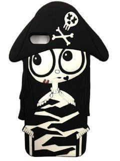 FJX New 3D Cartoon Pirate Woman ugly baby Soft Silicone Phone Case Cover For Apple Iphone 5/5G/5th (Black) Cell Phones & Accessories