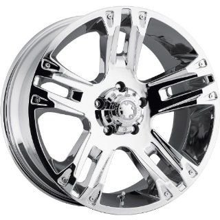 Ultra Maverick 16 Chrome Wheel / Rim 5x5.5 with a 10mm Offset and a 107 Hub Bore. Partnumber 235 6885C Automotive