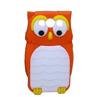 Orange 3D cute silicon night Owl Animal Design Cartoon Silicone case for Samsung Galaxy S3 S III i9300 Cell Phones & Accessories