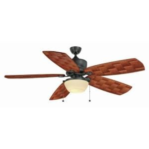 Hampton Bay Rocio 60 in. Indoor/Outdoor Natural Iron Ceiling Fan AL47 NI