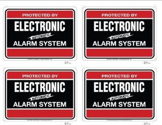 4 SECURITY DECAL #103   BURGLAR ALARM SYSTEM WARNING DECAL
