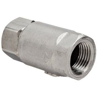 "Dixon 62 103 Stainless Steel 316 Ball Cone Check Valve, 1/2"" NPT Female Industrial Check Valves"
