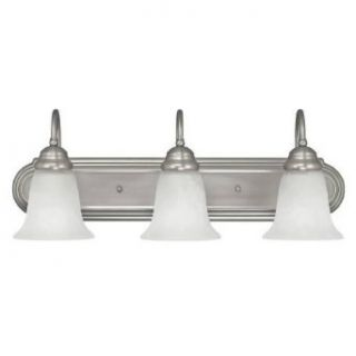 Capital Lighting 1163MN 117 GU Energy Smart 3 Light Bath Vanity Light in Matte Nickel with Acid Washed glass   Wall Sconces