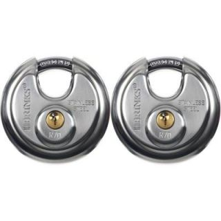 Brinks Home Security Stainless Steel Shielded Lock (2 Pack) 173 70201