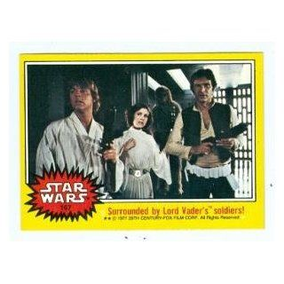 Star Wars card #167 1977 Topps Luke Skywalker Princess Leia Han Solo and Chewbacca Entertainment Collectibles