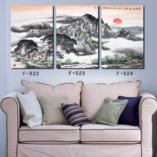 3pc modern abstract art painting wall deco painting on canvas (No Frame) YIWU  k ART 169
