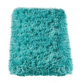 Home Decorators Collection Ultimate Shag Turquoise 6 ft. x 9 ft. Area Rug 3311491375