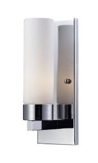 Z Lite 163 1S Ibis One Light Wall Sconce, Metal Frame, Chrome Finish and Matte Opal Shade of Glass Material