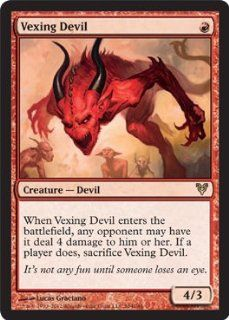 Magic the Gathering   Vexing Devil (164)   Avacyn Restored Toys & Games