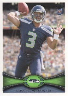 2012 Topps Football #165 Russell Wilson RC Seattle Seahawks NFL Rookie Trading Card Sports Collectibles