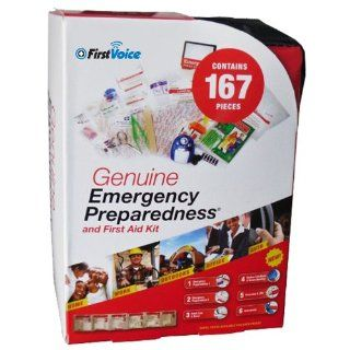 First Voice GFA167 167 Piece Plastic First Aid and Emergency Preparedness Kit Science Lab First Aid Supplies