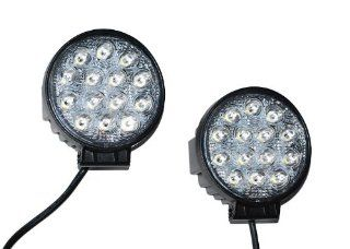 2x 42w Led Round Off Road Light Suv 4x4 Truck Fog Roof Rack ATV UTV Xenon Hid RV Automotive