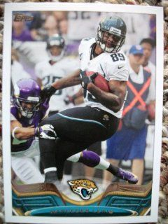 2013 Topps #193 Marcedes Lewis Trading Card in a Protective Case   Jacksonville Jaguars Sports Collectibles