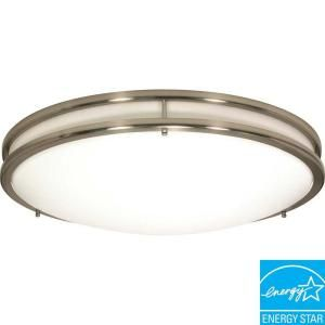 Glomar Glamour 3 Light Flush Mount Brushed Nickel Ceiling Fixture HD 902