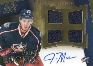 2011 12 Panini Prime Hockey #113 John Moore RC #'d /199 Columbus Blue Jackets NHL Autograph Memorabilia Rookie Trading Card Sports Collectibles