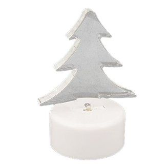 Seven Colors Flashlight Mini Christmas Tree Shape Ornament X'mas Gift