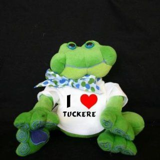 Plush Frog (Thad Polz) toy with I Love Tuckere (first name/surname/nickname) Toys & Games