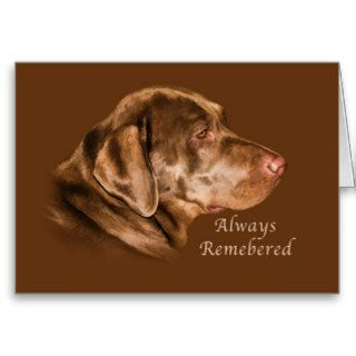 Sympathy on Loss of Pet, Labrador Retriever Dog Greeting Cards