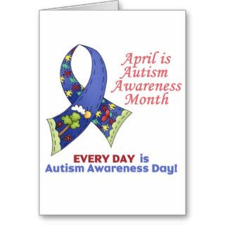 Autism Awareness April and Every Day Greeting Cards