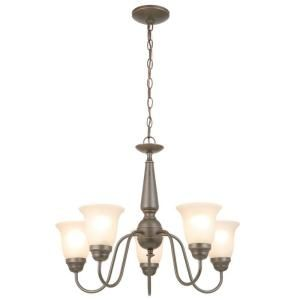 Commercial Electric 5 Light Oil Rubbed Bronze Reversible Chandelier EFH8195M/ORB