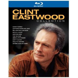 Clint Eastwood Collection (Absolute Power / Dirty Harry / Gran Torino / Kelly's Heroes / Letters from Iwo Jima / Million Dollar Baby / Mystic River / The Rookie / Unforgiven / Where Eagles Dare) [Blu ray] Clint Eastwood Movies & TV