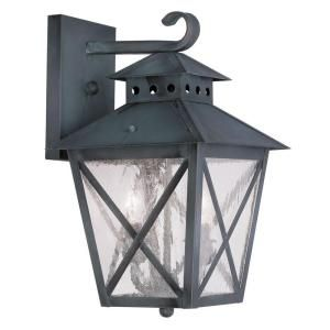 Filament Design Providence Wall Mount 2 Light Outdoor Charcoal Incandescent Lantern CLI MEN2671 61