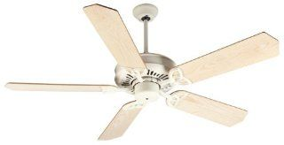 "Craftmade K10819 American Traditions Ceiling Fan with Five 52"" Standard Ash Wood Unfinished Blade, Antique White"