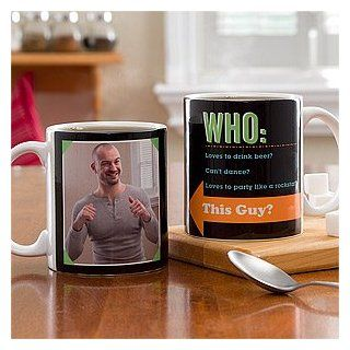 Photo Personalized Coffee Mugs   Who Loves You Kitchen & Dining