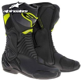 Alpinestars SMX 6 Boots , Primary Color Black, Size 43, Distinct Name Black/Yellow, Gender Mens/Unisex 2223014 155 43 Automotive