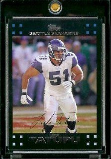 2007 Topps Football # 281 Lofa Tatupu   Seattle Seahawks   NFL Trading Cards Sports Collectibles