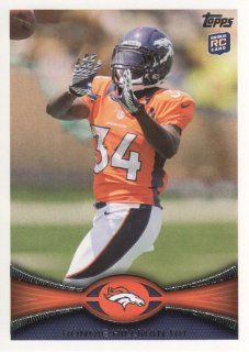 2012 Topps Football #283 Ronnie Hillman RC Denver Broncos NFL Rookie Trading Card Sports Collectibles
