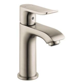 Hansgrohe Metris E 100 Single Hole 1 Handle Low Arc Bathroom Faucet in Brushed Nickel 31088821