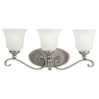 Sea Gull Lighting Parkview 3 Light Antique Brushed Nickel Vanity Fixture 44381 965