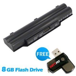 Battpit™ Laptop / Notebook Battery Replacement for Fujitsu FPCBP281 (4400 mAh) with FREE 8GB Battpit™ USB Flash Drive Computers & Accessories