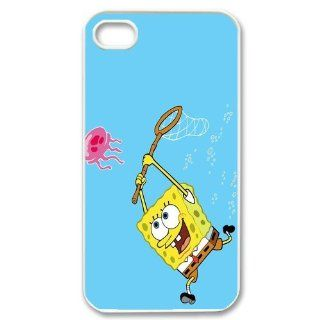 Personalized Cartoon SpongeBob SquarePants Protective Snap on Cover Case for iPhone 4/4S SS289 Cell Phones & Accessories