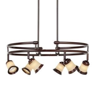 Hampton Bay 6 Light Multi directional Hanging Antique Bronze Chandelier EC9066ABZ