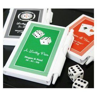 A Lucky Pair Vegas Themed Personalized Notebooks   Baby Shower Gifts & Wedding Favors (Set of 72)  Baby Keepsake Boxes  Baby