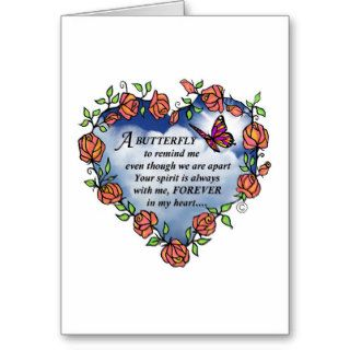 Memorial Butterfly Poem Greeting Cards